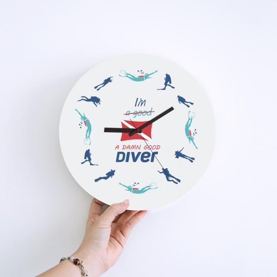 Wall Clock Gifts for Scuba Divers - Damn Goog Diver