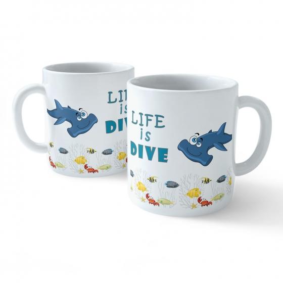 Funny Coffee Mug - My Buddy is Marine Life (Hammerhead)