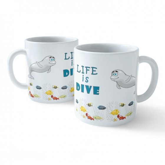 Funny Coffee Mug - My Buddy is Marine Life (Seal)