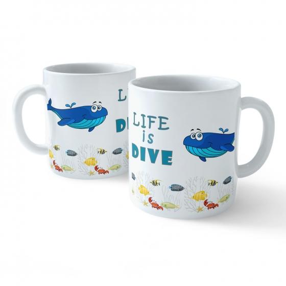 Funny Coffee Mug - My Buddy is Marine Life (Whale)