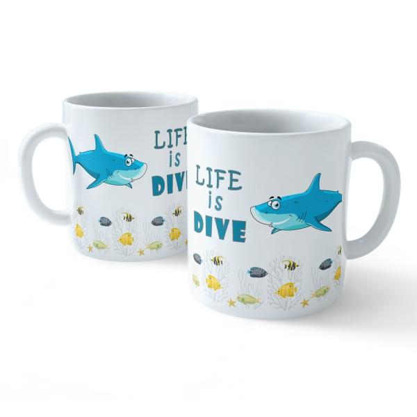 Funny Coffee Mug - My Buddy is Marine Life (Shark)