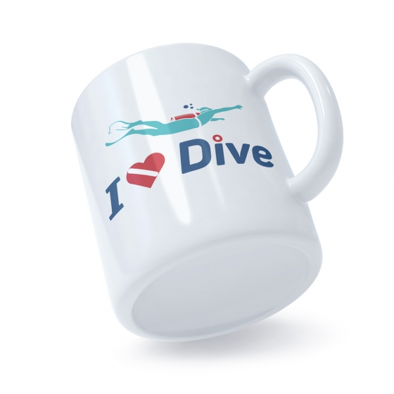 Coffee Mug Scuba Divers Gift Love Diving