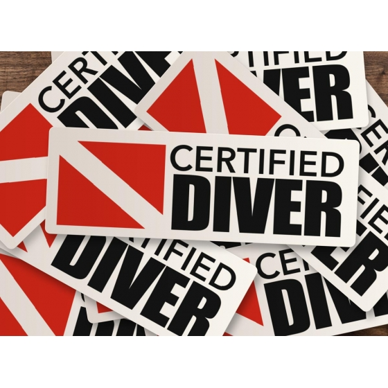 CERTIFIED DIVER Pack of 5 Stickers