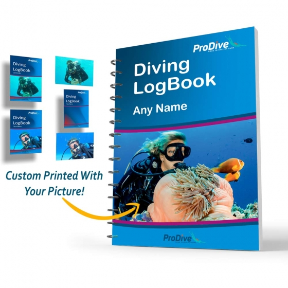 Personalized Diving Log Book Customize Your Picture and Name