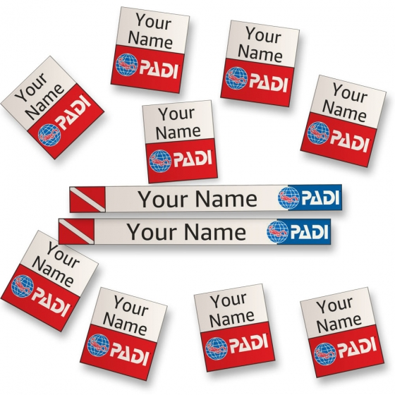 Personalized Sticker Labels for Diving Gear Identification-PADI