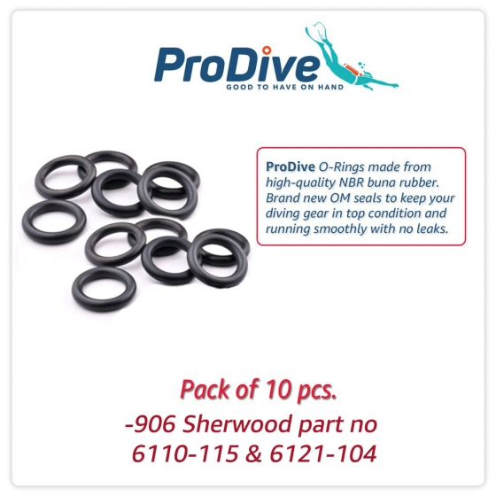 Scuba Diving O-Rings  -906 Sherwood part no 6110-115 & 6121-104