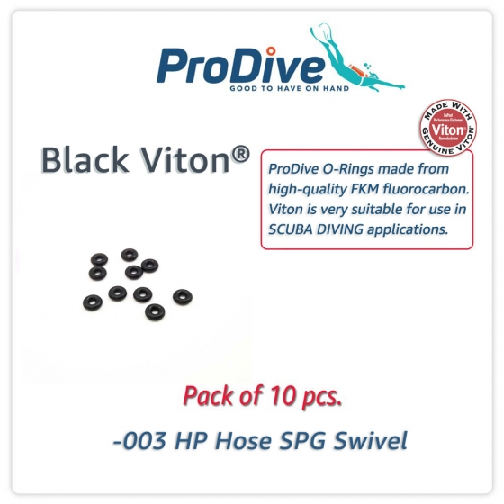 Scuba Diving Black Viton O-Rings -003 HP Hose SPG Swivel