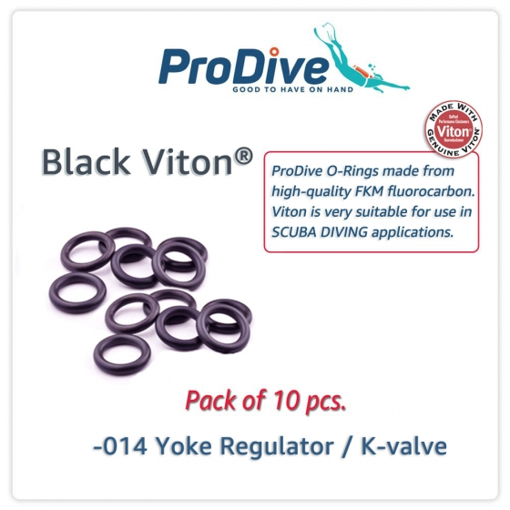 Scuba Diving Black Viton O-Rings -014 Yoke Reg. K-valve