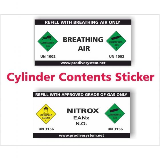Cylinder Contents Sticker