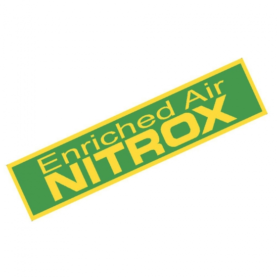 Enriched Air Nitrox Only Band Warning Sticker